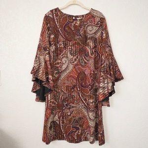 Cato Paisley Shift Dress